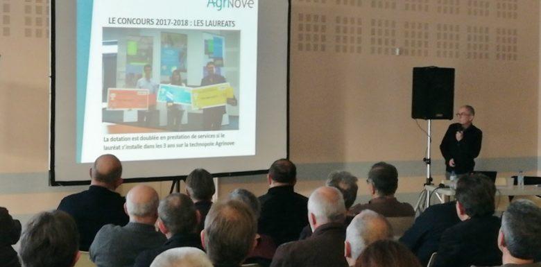 les élus durant la présentation du programme Agrinove Crédit photo : SMDEN